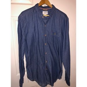Other - Jean shirt with stripe on side